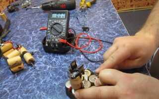 Проверяем аккумулятор шуруповерта мультиметром