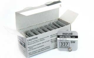 Батарейка Renata R337 – описание и аналоги