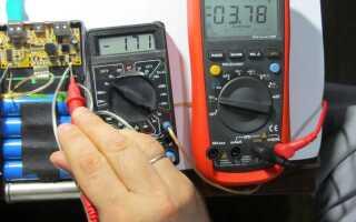 Использование мультиметра для проверки аккумулятора