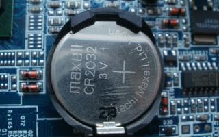 Биос батарейка в компьютере