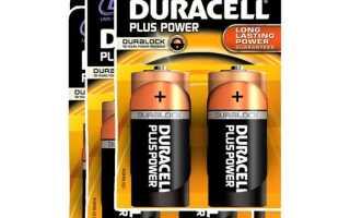 Большие батарейки и аккумуляторы тип d