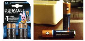 Алкалиновые батарейки с индикацией