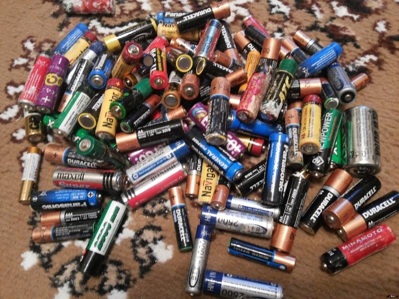 Что делать с отработанными батарейками?