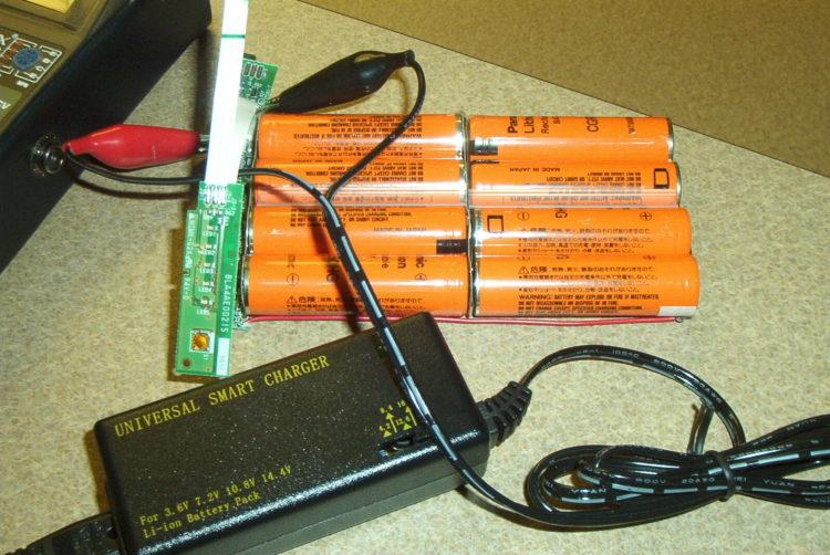 Процесс заряда батареи