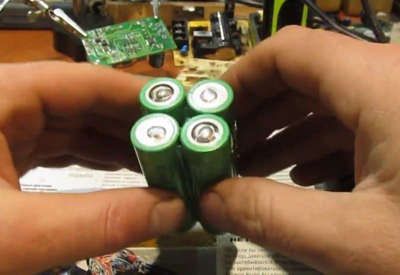 Самостоятельная переделка аккумулятора под литий-ионные банки