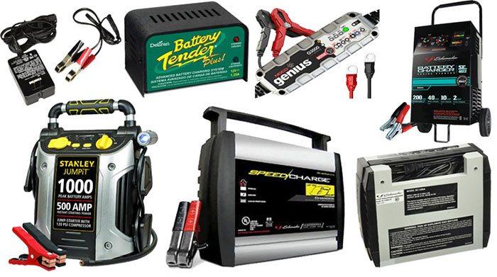 виды зарядных устройств для автомобильного аккумулятора