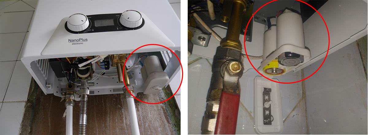 Батарейки класса D в газовой колонке
