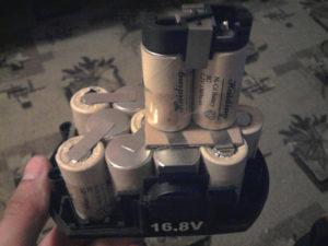 Ni-Cd аккумулятор у шуруповёрта
