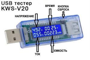USB-тестер для портативных устройств