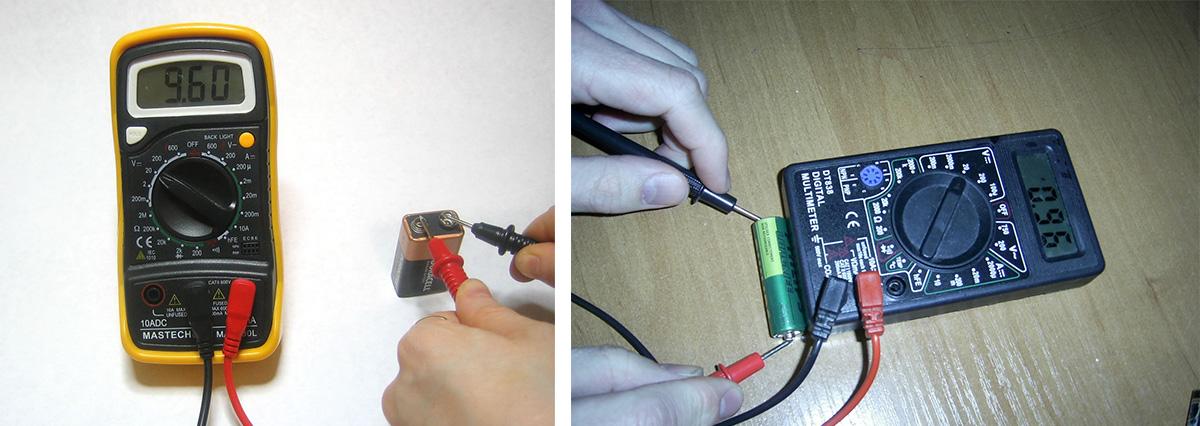 Измерение ёмкость батареек с помощью мультиметра
