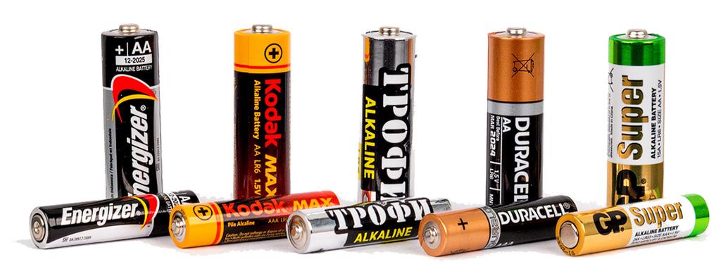 Сравнение батареек АА и ААА