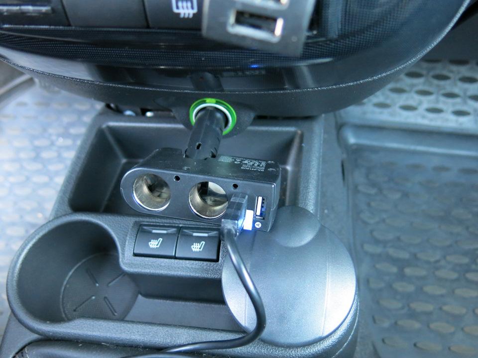 Зарядка Power Bank от прикуривателя автомобиля