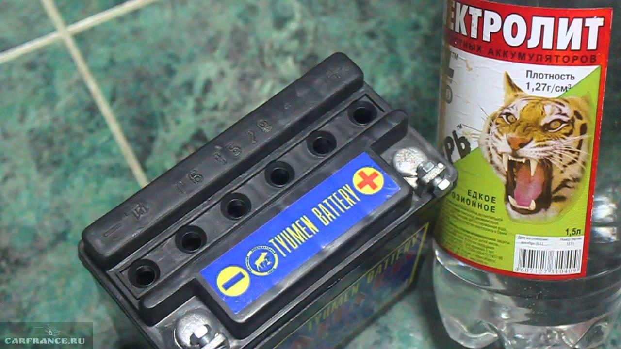 Сухозаряженные аккумуляторные батареи