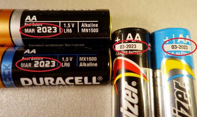 Срок годности батареек - как узнать?