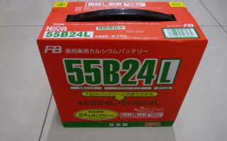 Все об аккумуляторе 55B24L/R